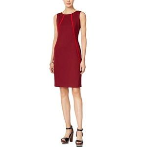 Tommy Hilfiger Sleeveless Ponte Shift Sheath Dress